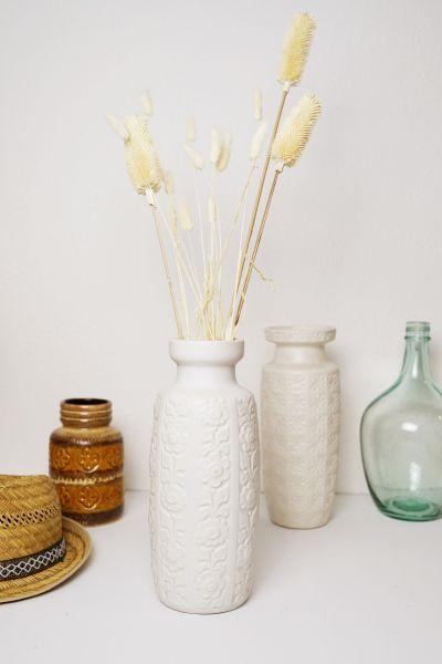 Weiße Vintage Vase Scheurich 280-30 als Deko für dein Zuhause im Boho Vintage Stil Mid-Century Modern
