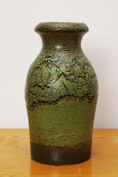 Grüne Fat Lava Vintage Vase der FIrma Scheurich Keramik als Deko