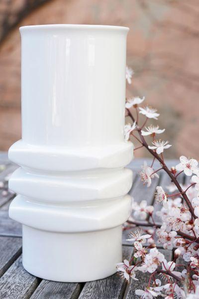 Vintagevase weiß glänzend