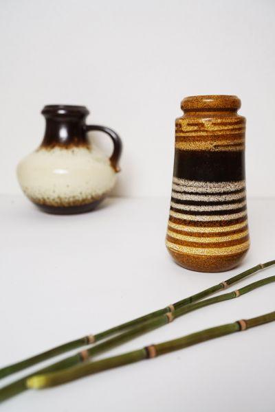 Vintage Vase gestreift als Deko für dein Zuhause im Boho Stil