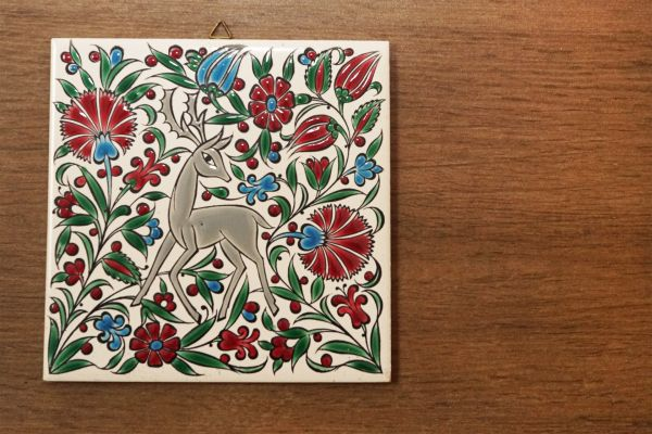 Griechische Vintage Wandfliese Rhodos als Deko