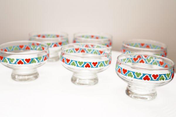 Vintage Glasschälchen bunt