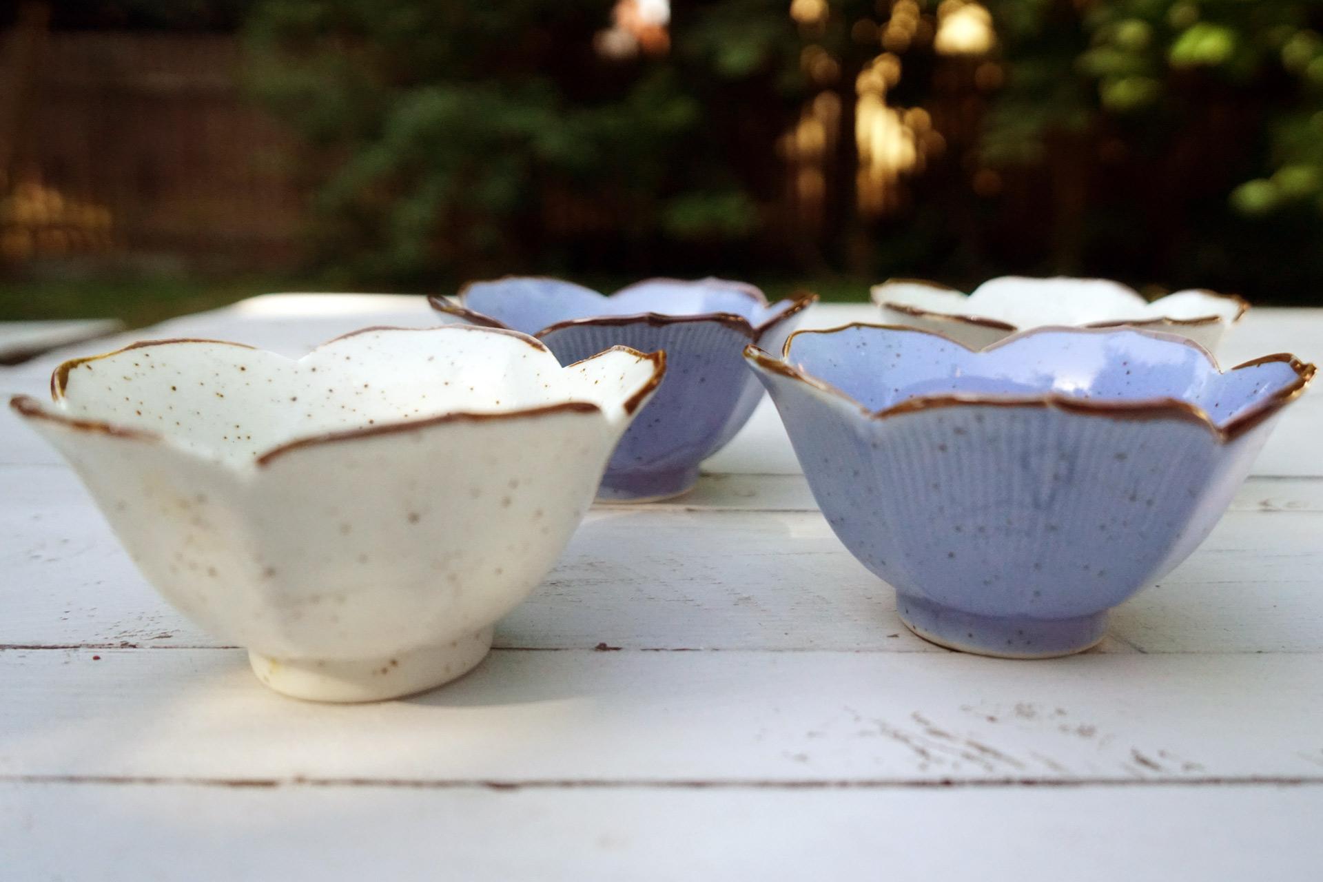 Schalenset keramik dessert vintage 2