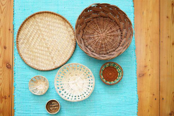 Wandeko aus Vintage Körben als Dekoration für dein Zuhause im Vintage Look