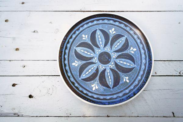 Blauer Wandteller von Thoms