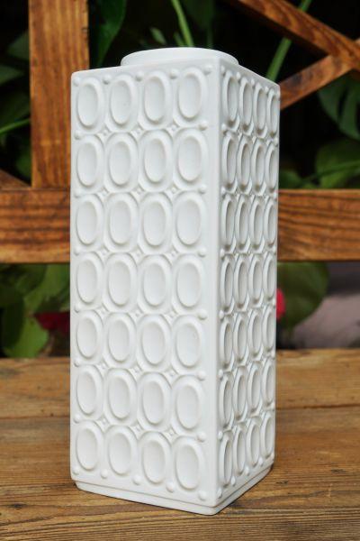 Weiße Vintage Vase Rechteck als Deko für dein gemütliches Zuhause