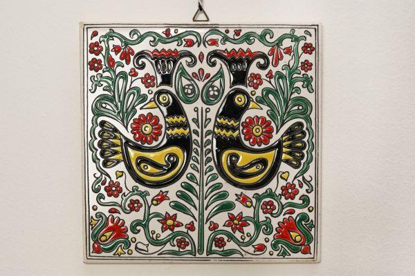 Griechische Vintage Wandfliese aus Rhodos als Deko