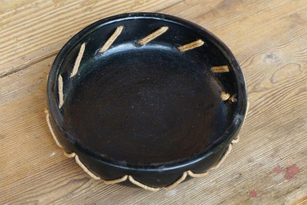 Vitnage Keramikschale mit Jute Kordel als Deko für deinen schön gedeckten Tisch im Vintage Stil