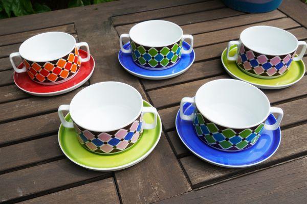 Retro Schalen Set für deinen schön gedeckten Tisch im Vintage Stil