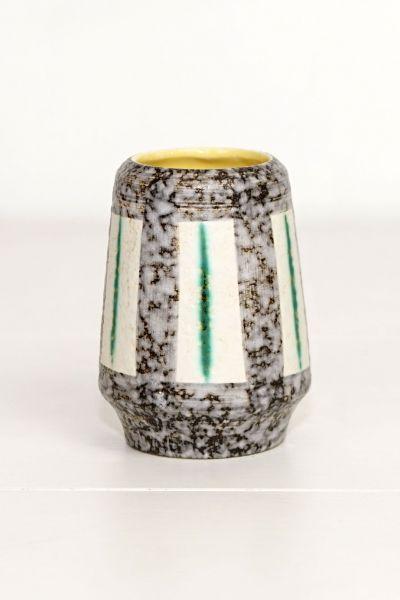 Scheurich Vase klein grüne Streifen