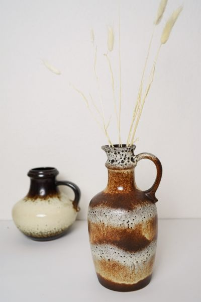 Dick glasierte Fat Lava Vintage Vase von Scheurich als Mid-century Deko
