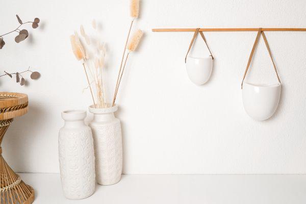 Wandtopf Keramik in verschiedenen Größen und Farben als Deko