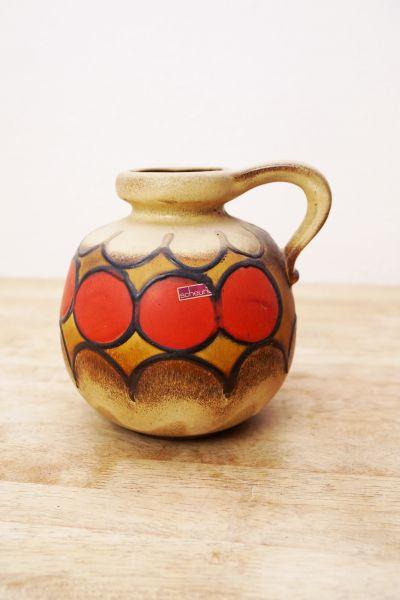 Vintage Vase mit Henkel West Germany von Scheurich als Deko