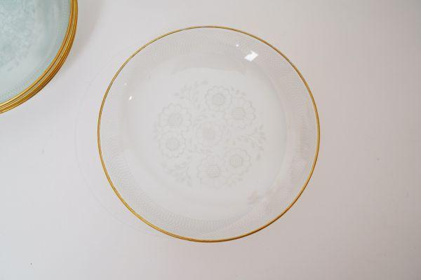 Vintage Glasschälchen oder Teller für deinen gedeckten Tisch im Vintage Stil
