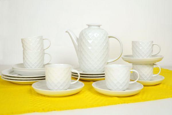 Thomas Wabengeschirr in weiss für deinen schön gedeckten Tisch im midcentury Stil