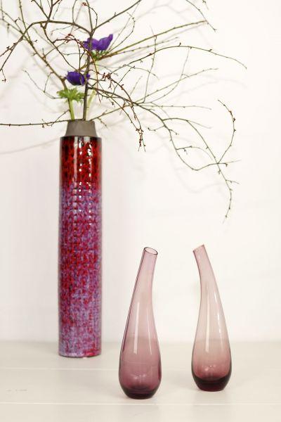 Glasvase Vintage lila