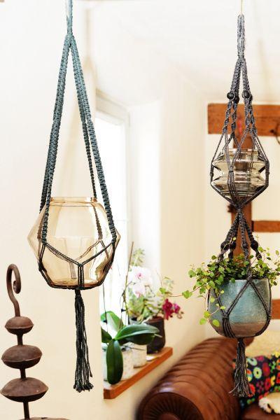 Makramee Blumenampel als Deko für dein Zuhause im Boho Stil