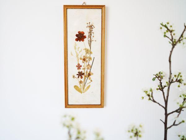 Vintage Trockenblumenbild