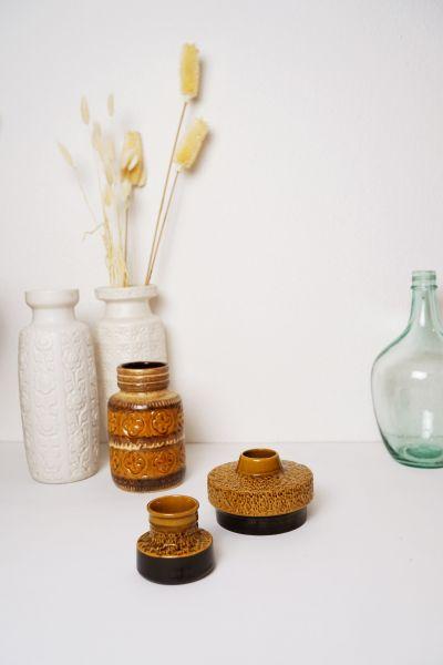 Vintage Vasen Set von Steuler Art aus den 60er Jahren als Deko für dein Zuhause im Vintage Stil