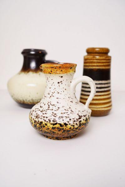 Wunderschöne braune, dick glasierte Fat Lava Vase der Firma Scheurich Keramik.