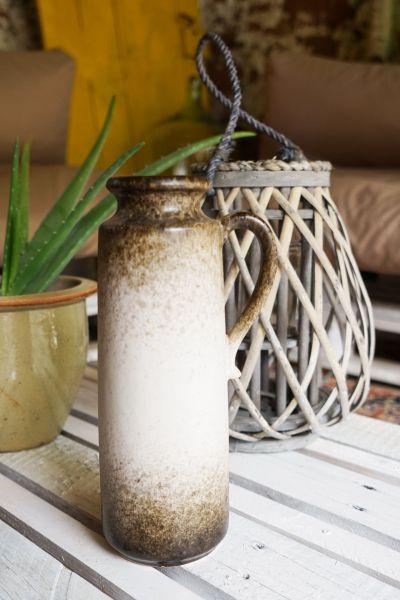 Vintage Henkelvase in erdigen Tönen als Deko für dein gemütliches Zuhause