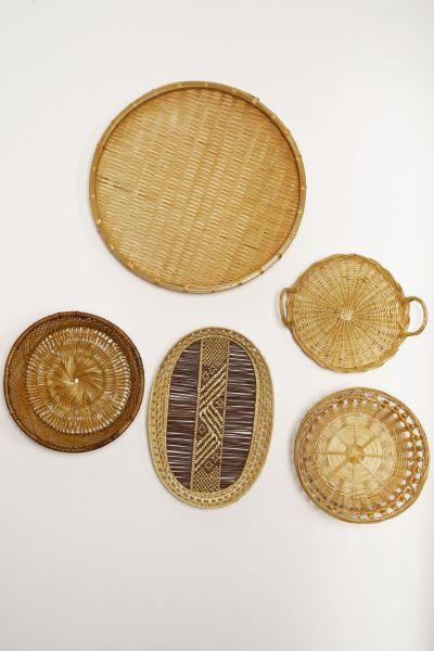 Wanddeko aus Körben als Deko für dein gemütlcihes Zuhause im Boho Stil