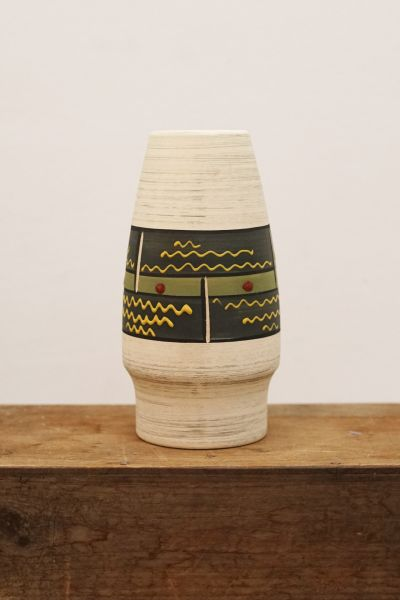 Vase mit Handbemalung