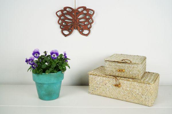 Schmetterling Topfuntersetzer Kupfer