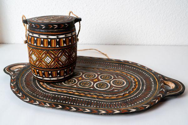 Holz Set orientalisch als Deko für dein Zuhause im Ethno Stil