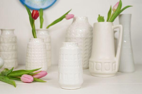 Scheurich Vase Inka Muster weiß die kleinere