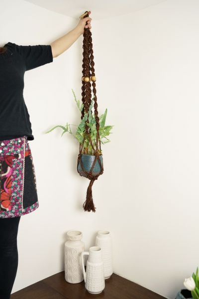 Vintage Makramee Blumenampel als tolles Deko Objekt und Wanddekoration für dein Zuhause