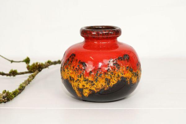Vase bauchig feurig Fat Lava