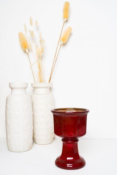 Pflanztopf Kelch in Rot als Deko für dein gemütliches Zuhause im Vintage Stil