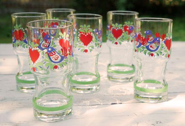 Herzliche Vintage Gläser aus den 70ern