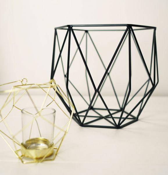 Obstkorb von Hübsch Interior in geometrischer Form als Deko Korb im skandinavischen vintage Stil