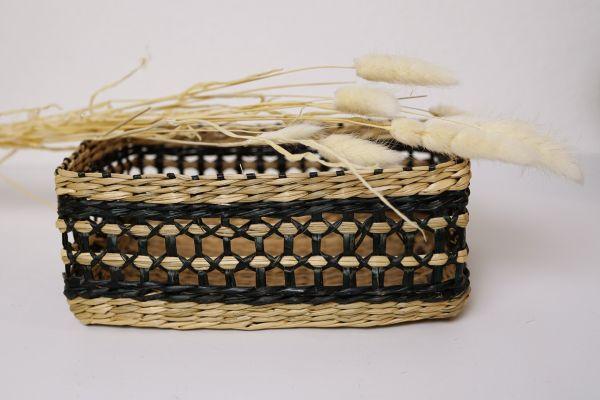 Aufbewahrungs Korb aus Seegras als Deko für dein gemütliches Zuhause im Boho Stil