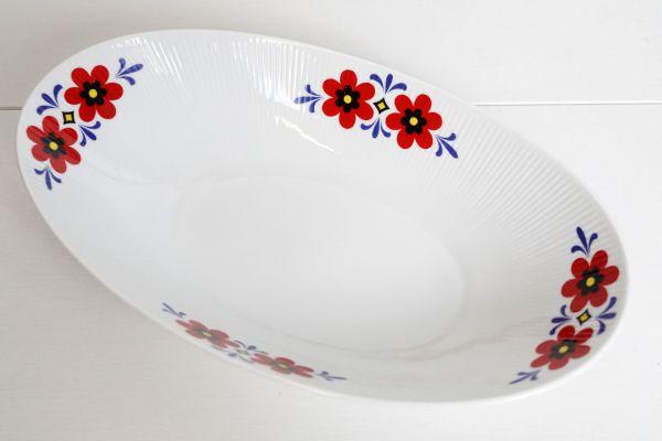 Vintage Servierschale mit Blumendekor für deinen schön gedeckten Tisch