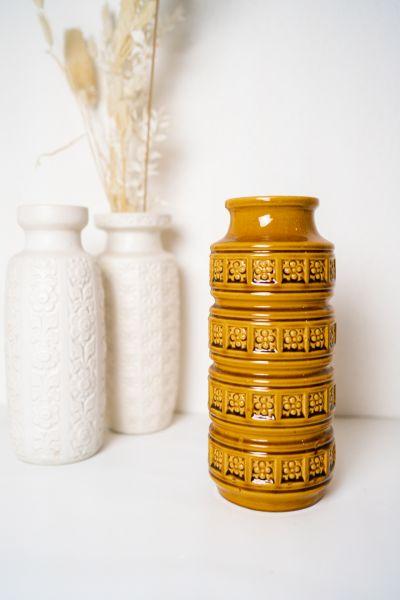 Scheurich Vintage Vase in der Farbe Ocker als Deko für dein Zuhause im Boho Vintage Stil