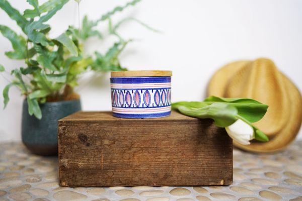 Vintage Keramikdose mit Boho Muster