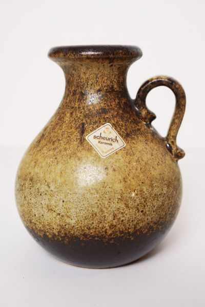 Vintage Vase von Scheurich 495-16 mit Henkel als Deko für dein gemütliches Zuhause