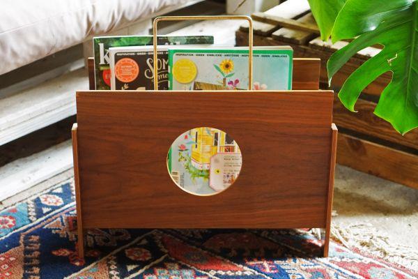 Zeitungsständer aus Holz Vintage 50er 60er als Deko für dein gemütliches Wohnzimmer