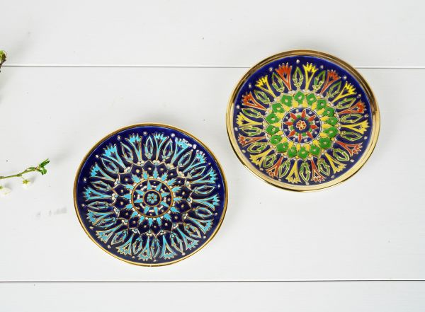 Keramik Wandteller Set aus Rhodos