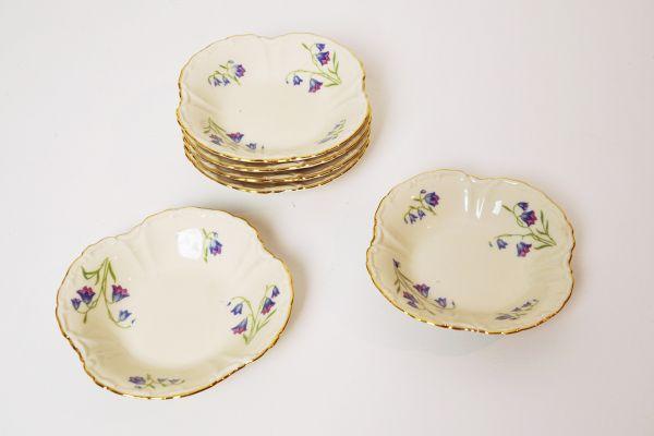 Vintage Konfekt Teller Set von Edelstein Bavaria für deinen schön gedeckten Tisch im Vintage Stil