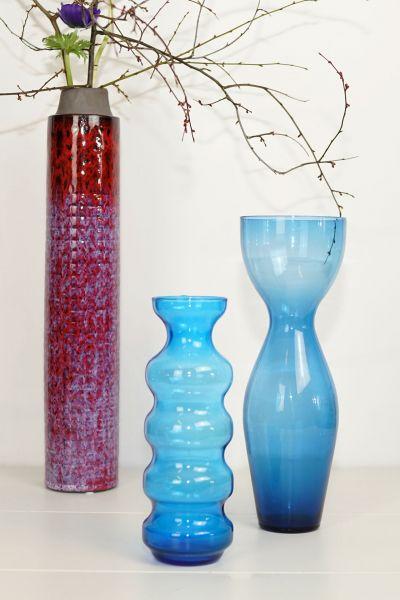Kerzenleuchter in Blau aus Glas als Deko für deinen schön gedeckten TIsch im Boho Stil