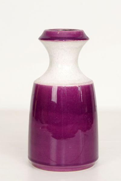 Vintagevase lila und weiß