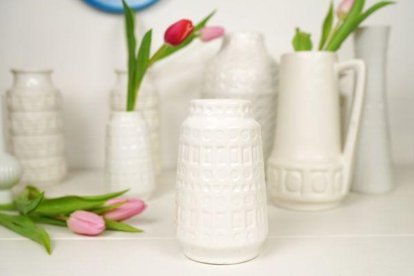 Scheurich Vase Inka Muster weiß die größere