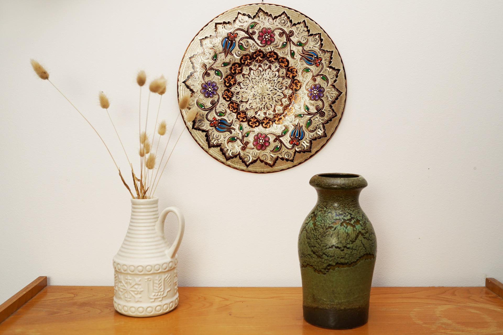 Wandteller aus Kupfer mit orientalischen Ornamenten als Wanddeko