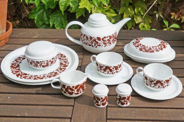 Kaffeeservice von Melitta aus den 70er Jahren für den schön gedeckten Tisch im angesagten Vintage Look