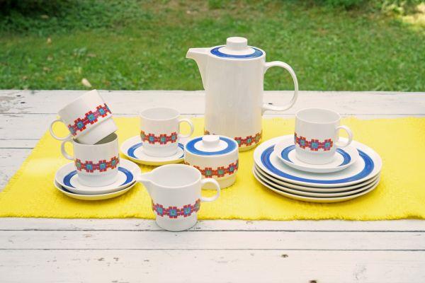 Kaffeeservice von Melitta aus den 70er Jahren mit quadratischem Design für den schön gedeckten Tisch im angesagten Vintage Look