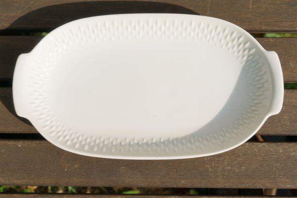 Ovale Servierplatte in weiß für deinen schön gedeckten Tisch